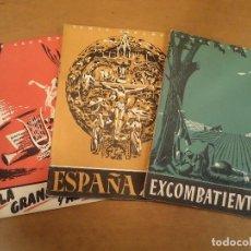 Libros de segunda mano: TEMAS ESPAÑOLES. 6: FALLA, GRANADOS, ALBÉNIZ.- 8: ESPAÑA EN LOS ALTARES.- 10: EXCOMBATIENTES. Lote 91936625