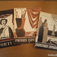 Libros de segunda mano: TEMAS ESPAÑOLES. 72: FORTUNY,- 109: PINTORES ESPAÑOLES I,- 113: ESCULTORES ESPAÑOLES. Lote 91937120