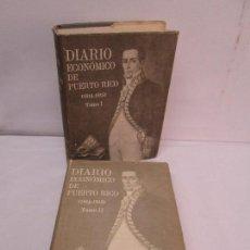 Libros de segunda mano: DIARIO ECONOMICO DE PUERTO RICO 1814-1815. TOMO I Y II. SAN JUAN DE PUERTO RICO 1972.. Lote 92134050