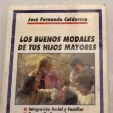 Libros de segunda mano: LOS BUENOS MODALES DE TUS HIJOS MAYORES JOSÉ FERNANDO CALDERERO HACER FAMILIA N.48. Lote 92154667
