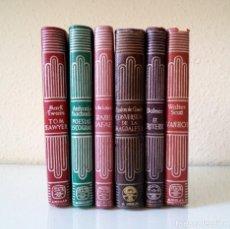 Libros de segunda mano: LOTE 6 CRISOL AGUILAR ANTONIO MACHADO, MARK TWAIN, MALON DE CHAIDE, BALMES, WALTER SCOTT, LAMARTINE. Lote 92413800