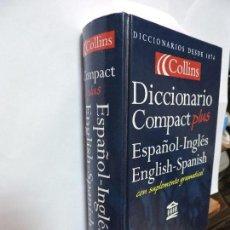 Libros de segunda mano: DICCIONARIO COLLINS COMPACT PLUS ESPAÑOL-INGLÉS INGLÉS-ESPAÑOL. ED. GRIJALBO. GLASGOW 1999. Lote 92903145