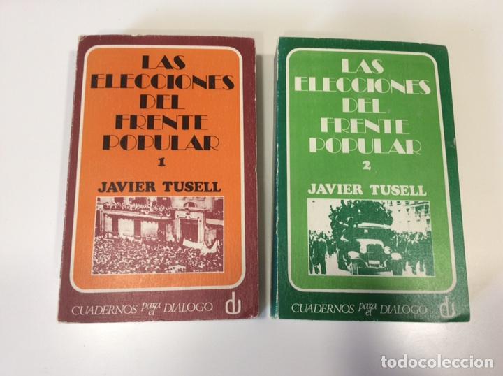 LAS ELECCIONES DEL FRENTE POPULAR / JAVIER TUSELL OBRA EN DOS TOMOS - CUADERNOS PARA EL DIÁLOGO 1971 (Libros de Segunda Mano - Historia - Otros)