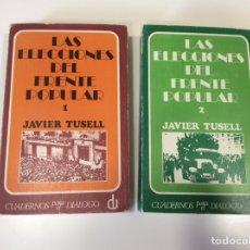 Libros de segunda mano: LAS ELECCIONES DEL FRENTE POPULAR / JAVIER TUSELL OBRA EN DOS TOMOS - CUADERNOS PARA EL DIÁLOGO 1971. Lote 92944545