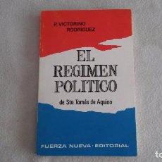 Libros de segunda mano: EL RÉGIMEN POLÍTICO. Lote 93079295