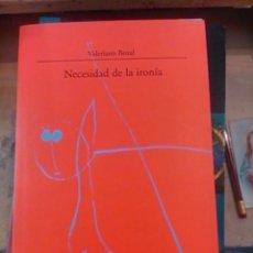 Libros de segunda mano: NECESIDAD E LA IRONÍA (MADRID, 1999). Lote 93269450