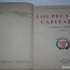 Libros de segunda mano: LOS PECADOS CAPITALES, MAGYOE, ALPE 1ª EDICION 1952, ILUSTRADO, HOJA RUSTICA, LIBRO ANTIGUO. Lote 93488650