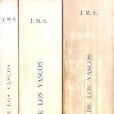 Libros de segunda mano: UR DE LOS VASCOS. (TEORÍA TOPONIMICA). 3 TOMOS.. Lote 93564040