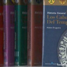 Libros de segunda mano: MATEO BRUGUERA : HISTORIA GENERAL DE LOS CABALLEROS DEL TEMPLE - 5 TOMOS (ALCÁNTARA, 1999) . Lote 93862425
