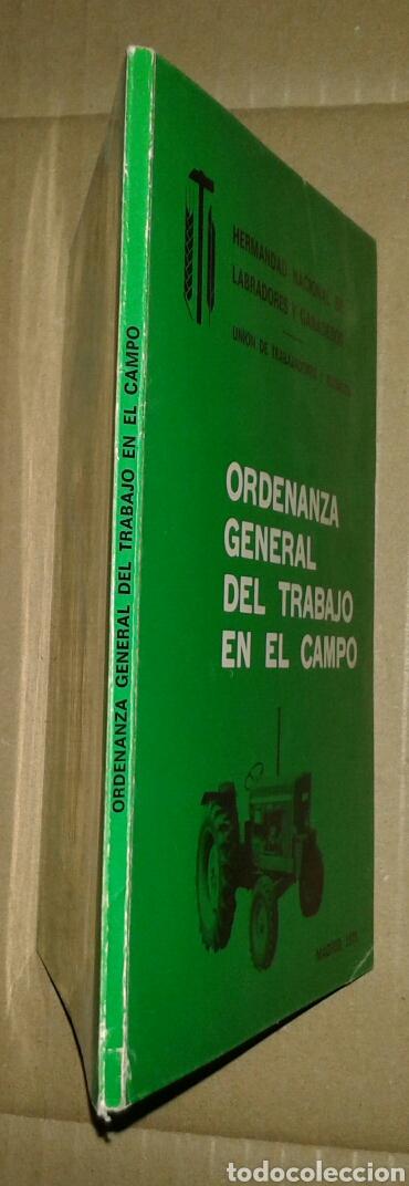 Libros de segunda mano: ORDENANZA GENERAL DEL TRABAJO EN EL CAMPO 1975 - Foto 2 - 94053534