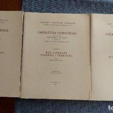 Libros de segunda mano: CATALUNYA CAROLÍNGIA, VOL. IV: 3 PARTS. ELS COMTATS D'OSONA I MANRESA. RAMON ORDEIG I MATA. O. C.. Lote 94324050