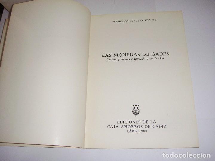 Libros de segunda mano: Las Monedas de Gades. 1980.Con ilustraciones en su interior. - Foto 2 - 94330362