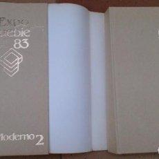 Libros de segunda mano: 2 TOMOS LIBROS EXPO MUEBLE 83 MODERNO, DISEÑOS MUEBLES. Lote 94355986