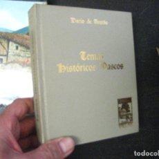 Libros de segunda mano: TEMAS HISTORICOS VASCOS AREITIO. EJEMPLAR NUMERADO COLECCION IBAIZABAL. Lote 94420594