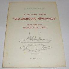 Libros de segunda mano: LA FACTORÍA NAVAL VEA-MURGUIA HERMANOS. MARIANO DE RETEGUI BENSUSAN. Lote 94563675