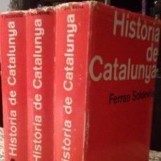 Libros de segunda mano: HISTÒRIA DE CATALUNYA (3VOLUMS) - FERRAN SOLDEVILA. Lote 94574479