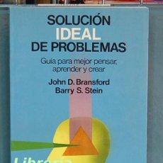 Libros de segunda mano: SOLUCIÓN IDEAL DE PROBLEMAS. JOHN D. BRANSFORD / BARRY S. STEIN. Lote 94593887