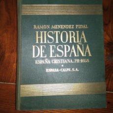 Libros de segunda mano: HISTORIA DE ESPAÑA - R. MENENDEZ PIDAL - TOMO VI - ESPAÑA CRISTIANA RECONQUISTA (711-1038). Lote 94600811