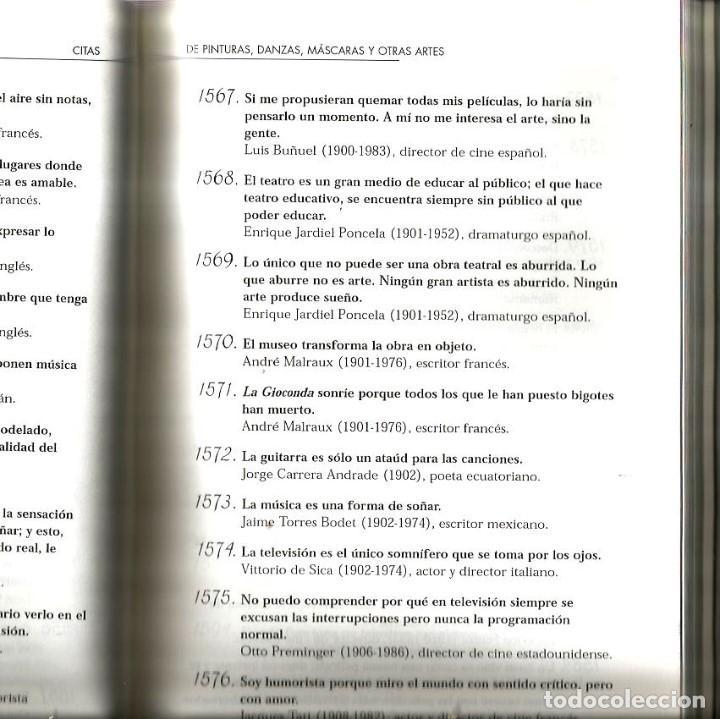 Libros de segunda mano: LIBRO 2.000 CITAS DE ARTE Y LIBROS ( CITAS Y FRASES CELEBRES ) - Foto 3 - 94679995