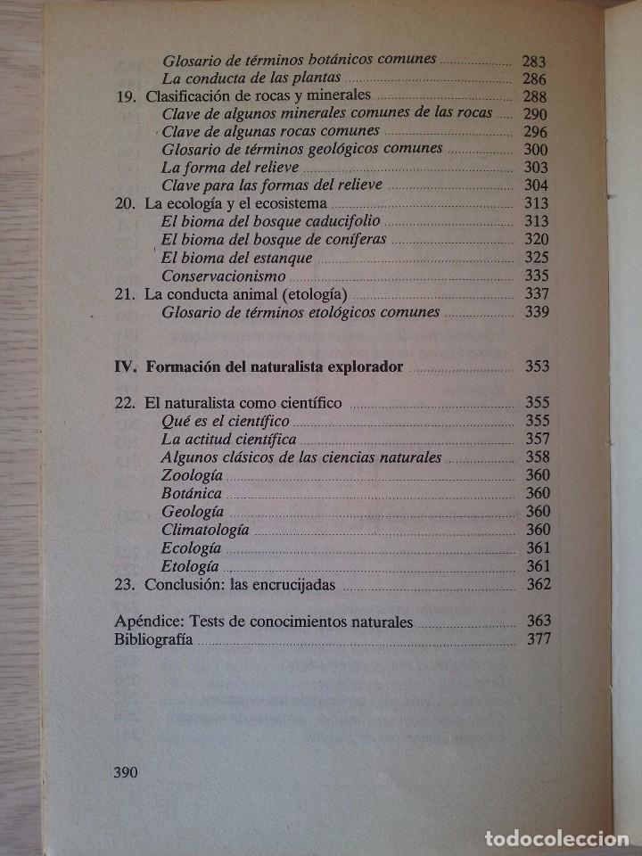 Libros de segunda mano: VINSON BROWN - MANUAL DEL NATURALISTA AFICIONADO - EDICIONES MARTINEZ ROCA 1987 - Foto 5 - 94872407