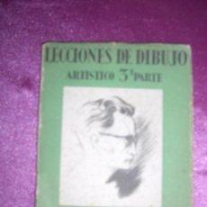 Libros de segunda mano: LECCIONES DE DIBUJO ARTÍSTICO. ANATOMIA ARTISTICA 3 PARTE EMILIO FREIXAS.1960. Lote 94947111
