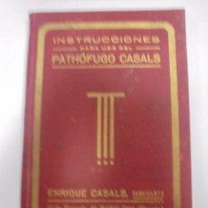 Libros de segunda mano: LIBRO DE INSTRUCCIONES PARA CURAR ENFERMEDADES CON OXIGENO. 1921. LABOR IMPROBUS OMNIA VINCIT. Lote 95035459