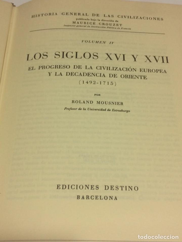 Libros de segunda mano: Historia General de las civilizaciones siglos XVI y XVII - Foto 3 - 95119770