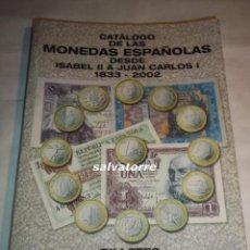 Libros de segunda mano: HERMANOS GUERRA.CATALOGO DE LAS MONEDAS ESPAÑOLAS DESDE ISABEL II HASTA JUAN CARLOS I.BILLETES 1873-. Lote 95147959