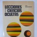 Libros de segunda mano: LECCIONES DE CIENCIAS OCULTAS. YOGUI KHARISHNANDA.. Lote 95198763