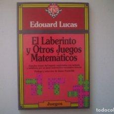 Libros de segunda mano: LIBRERIA GHOTICA. EDOUARD LUCAS. EL LABERINTO Y OTROS JUEGOS MATEMATICOS. 1942. MUY ILUSTRADO. MAGIA. Lote 95425691