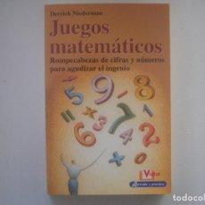 Libros de segunda mano: LIBRERIA GHOTICA. NIEDERMAN. JUEGOS MATEMATICOS. 2003. MUY ILUSTRADO. 1ª EDICIÓN. MAGIA.. Lote 95425807