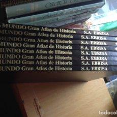 Libros de segunda mano: EL MUNDO. GRAN ATLAS DE HISTORIA. EBRISA. Lote 95763407