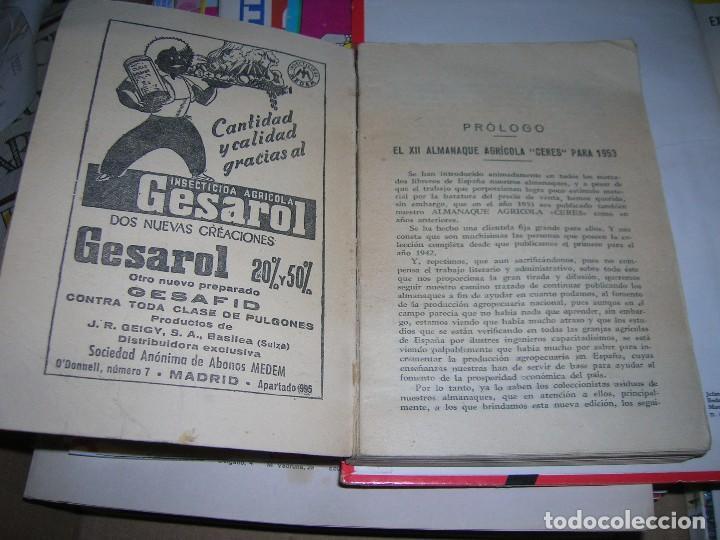 Libros de segunda mano: Almanaque agricola Ceres. Año 1953. - Foto 2 - 95806787
