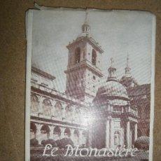Libros de segunda mano: LIBROS ARTE MADRID - LE MONASTERE DE L,ESCORIAL GUIDE DU TOURISTE ARTURO GARCIA 1952. Lote 95833647