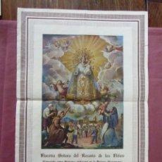 Libros de segunda mano: FUENTE LA HIGUERA(VALENCIA)NTRA SRA DEL ROSARIO DE LOS NIÑOS,1944,CARTEL RECUERDO II CENTENARIO .. Lote 95839735