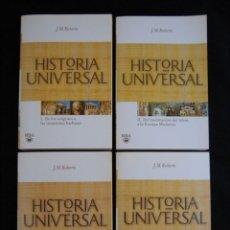Libros de segunda mano: HISTORIA UNIVERSAL (4 TOMOS). J M ROBERTS. RBA. 2009. Lote 95955843