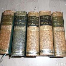 Libros de segunda mano: EMIL LUDWIG, OBRAS COMPLETAS, JUVENTUD, BIOGRAFIAS, TOMOS I,II,IV, Y V. Lote 96309791