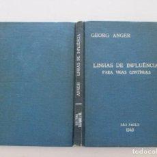 Libros de segunda mano: GEORG ANGER. LINHAS DE INFLUENCIA PARA VIGAS CONTÍNUAS. RMT82596. . Lote 96309955