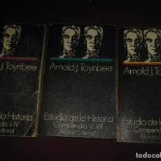 Libros de segunda mano: ESTUDIO DE LA HISTORIA. 3 VOL. ARNOLD J. TOYNBEE. ALIANZA EDITORIAL 1970.. Lote 98598059