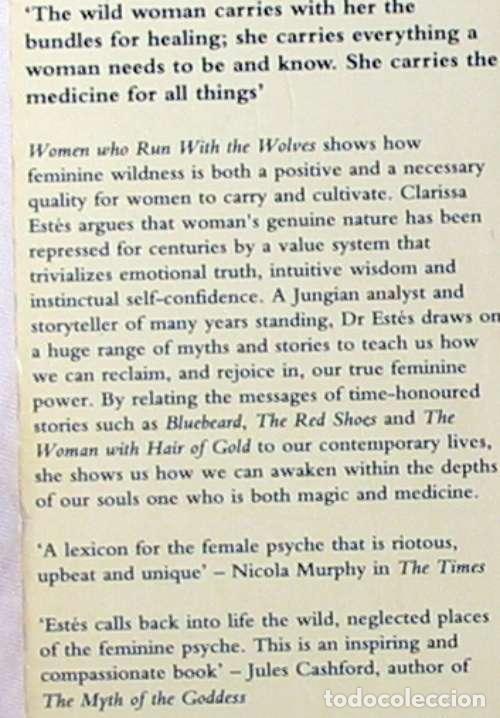 Libros de segunda mano: WOMEN WHO RUN WITH THE WOLVES - CLARISSA PINKOLA ESTÉS 1996 - VER INDICE - Foto 2 - 96368275