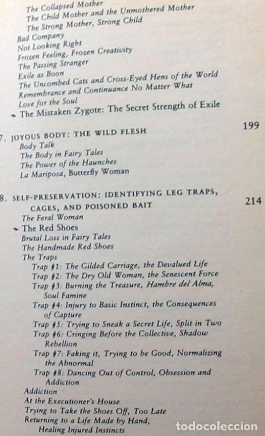 Libros de segunda mano: WOMEN WHO RUN WITH THE WOLVES - CLARISSA PINKOLA ESTÉS 1996 - VER INDICE - Foto 5 - 96368275