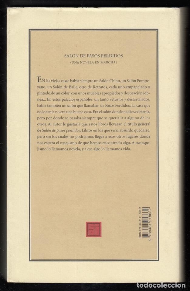 Libros de segunda mano: ANDRÉS TRAPIELLO SALÓN DE PASOS PERDIDOS 15 LA MANÍA PRE-TEXTOS 2007 1ª EDICIÓN COL NARRATIVA CONTEM - Foto 2 - 96394035