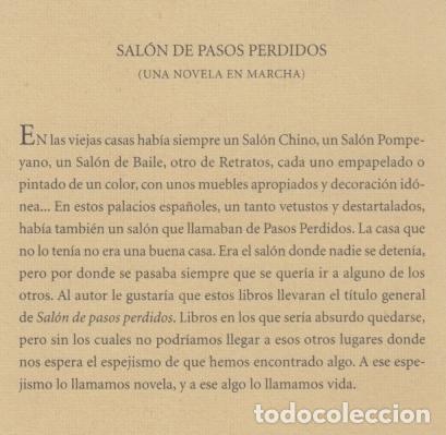 Libros de segunda mano: ANDRÉS TRAPIELLO SALÓN DE PASOS PERDIDOS 15 LA MANÍA PRE-TEXTOS 2007 1ª EDICIÓN COL NARRATIVA CONTEM - Foto 6 - 96394035