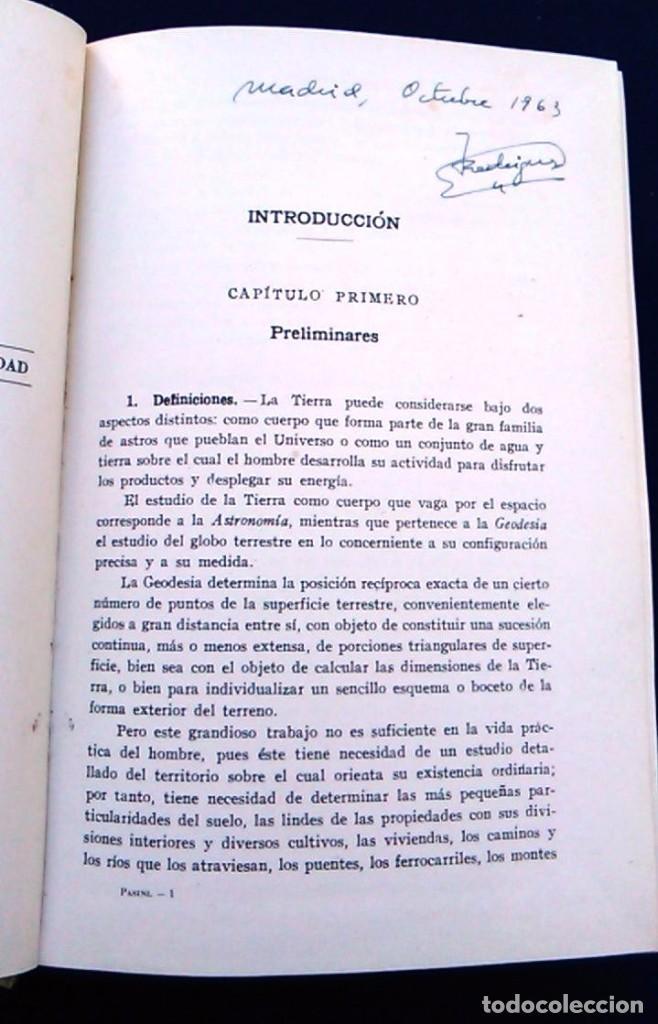 Libros de segunda mano: Tratado de topografía. Claudio Pasini. Editorial Gustavo Gil, S.A. Barcelona, 1960. Libro. C. - Foto 3 - 96484891