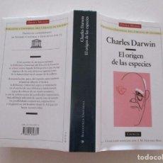 Libros de segunda mano: CHARLES DARWIN. EL ORIGEN DE LAS ESPECIES. RM82642. . Lote 96691563