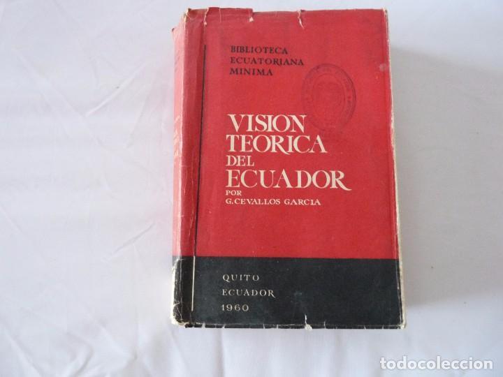 VISION TEORICA DEL ECUADOR POR G. CEVALLOS GARCIA ECUADOR 1960 (Libros de Segunda Mano - Historia - Otros)