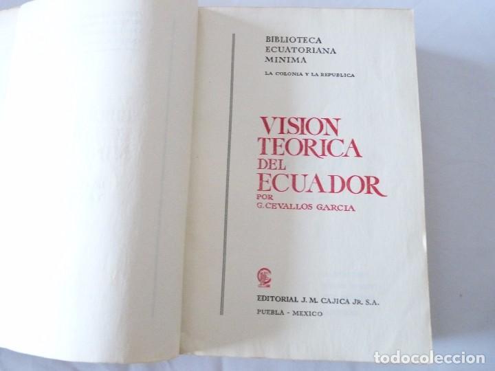 Libros de segunda mano: VISION TEORICA DEL ECUADOR POR G. CEVALLOS GARCIA ECUADOR 1960 - Foto 4 - 96694203
