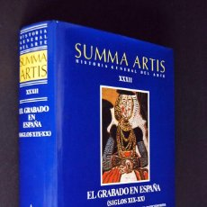 Libros de segunda mano: SUMMA ARTIS. EL GRABADO EN ESPAÑA (SIGLOS XIX-XX) .ESPASA CALPE 2000.. Lote 96772675