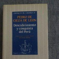 Libros de segunda mano: DESCUBRIMIENTO Y CONQUISTA DEL PERÚ. PEDRO DE CIEZA DE LEÓN. ED. DE C. SÁENZ DE SANTAMARÍA.. Lote 139994186