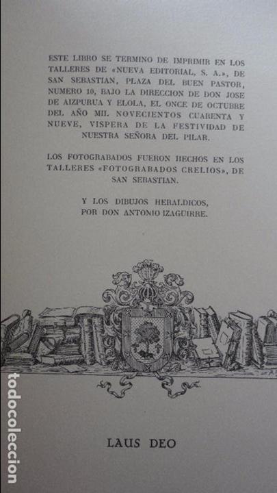 Libros de segunda mano: AMADEO DELAUNET ESNAOLA.HISTORIA GENEALOGICA CASA SOLAR DE REZOLA.1480-1949. SAN SEBASTIAN 1949. - Foto 10 - 96934391